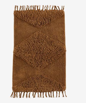 Tapis en coton marron