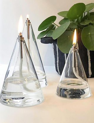 Lampe a huile conique