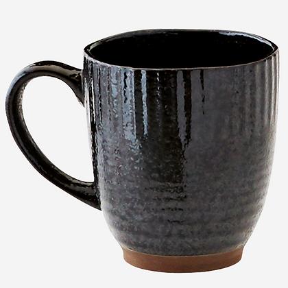 Mug en grès noir
