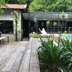 Jardin Cap Ferret avec piscine