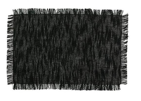 Set de table lin noir