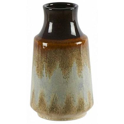 Vase céramique Lava crème et bleu