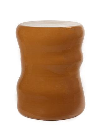Pouf céramique rouille
