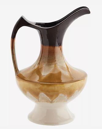 Vase avec anse moutarde