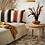 Thumbnail: Housse de coussin rayure brique avec pompons
