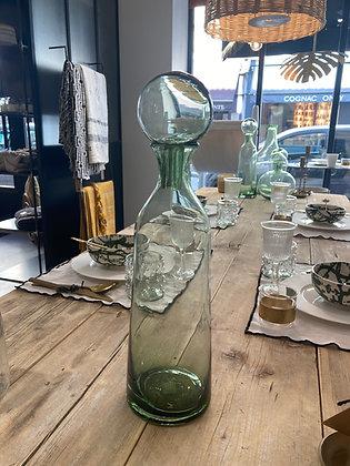 Vase bouteille vert