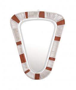 Miroir corde et cuire