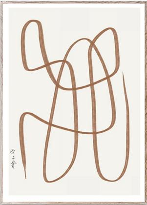 Affiche different way brown 30x40cm
