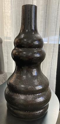 Vase courbes noir