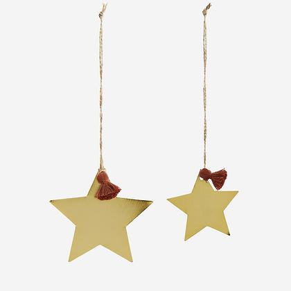 Set de 2 étoiles dorés
