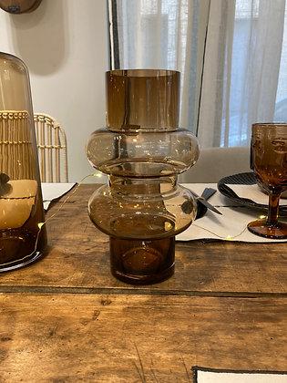 Vase double ambre