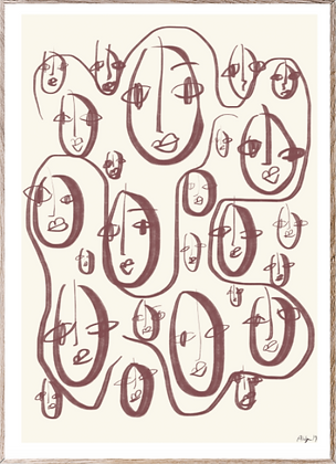 Affiche random faces 30x40cm