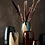 Thumbnail: Vase en verre teinté et fibre naturelle