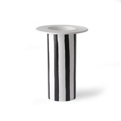 Vase rayure noir et blanc