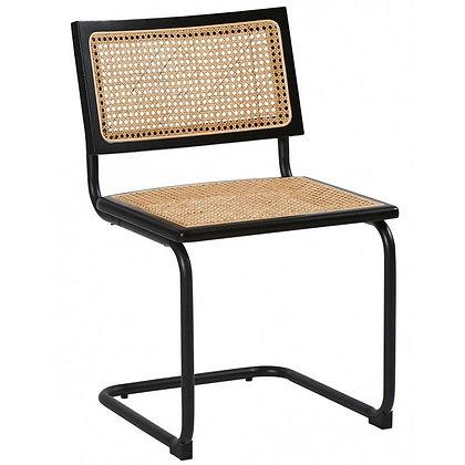 Chaise Rattan noire
