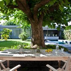 Jardin Bordelais avec piscine