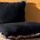 Thumbnail: Housse de coussin noir avec franges 40x60cm