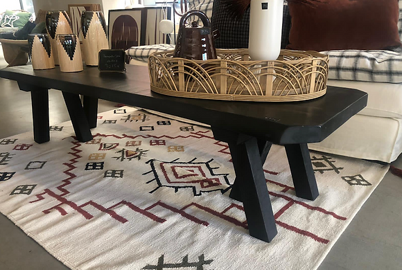Table basse bois noir
