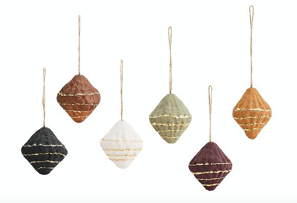 Boule de noël cône set de 6 couleurs
