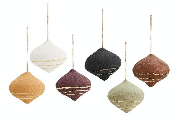 Boule de noël toupie set de 6 couleurs