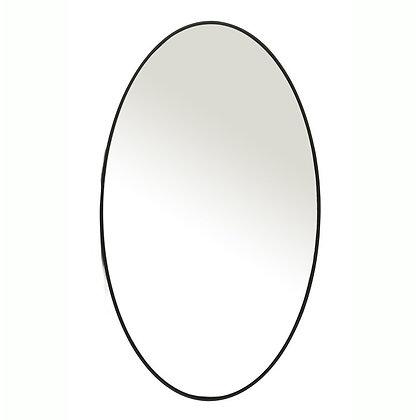 Miroir ovale fer noir