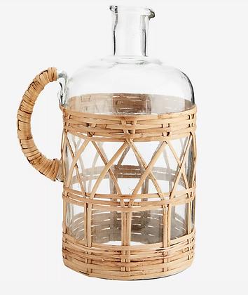 Carafe verre et bambou