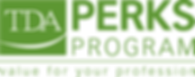 Logo for Texas Dental Assocation TDA Perks endorsement of iCoreConnect