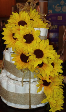 Sunflower Diaper Cake by JZD