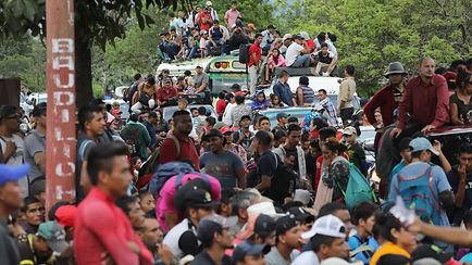 Up to 2,000 migrants passed through poli