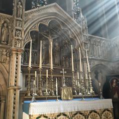 The sanctuary altar sunlight