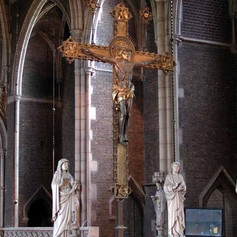 The Rood flanked by Mary and John
