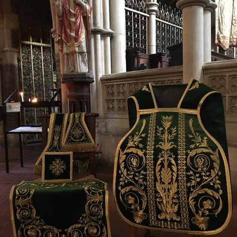 New Green Sunday Chasuble, Stole, manipl