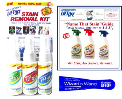Stain guide and packaging