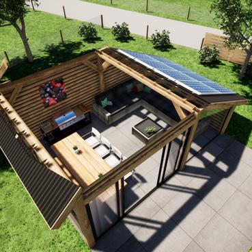 Tuin en veranda