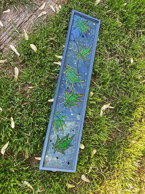 Grey Harvest Leaf Lap Tray