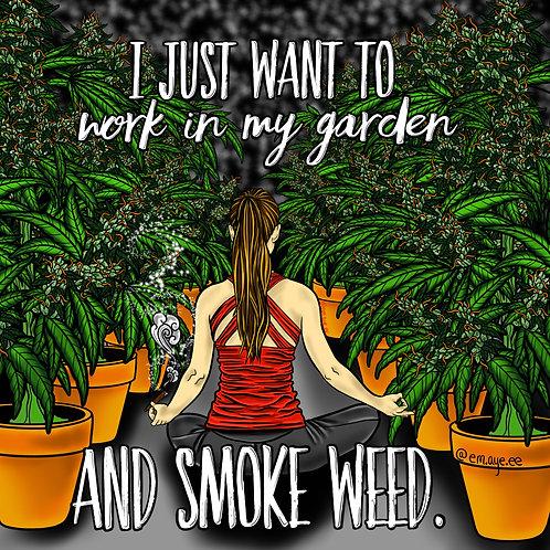 Garden Girl Print