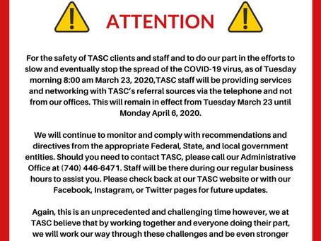 TASC of Southeast Ohio - 3/23/2020