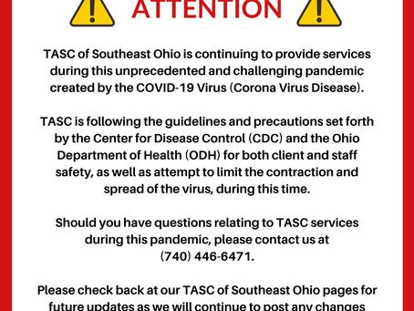 TASC of Southeast Ohio - 3/19/2020
