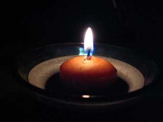 נרות חנוכה כהתנוצצות היאנג