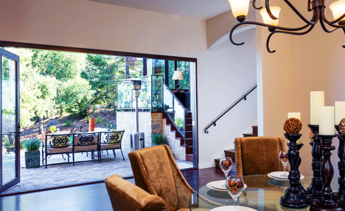 indoor-outdoor dining
