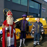 Op de foto met Sint en Piet