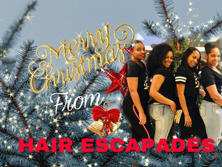 Happy Holidays From The Hair Escapades Staff.