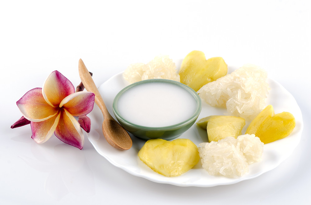 Mangue et riz au lait de coco - Mango Sticky rice