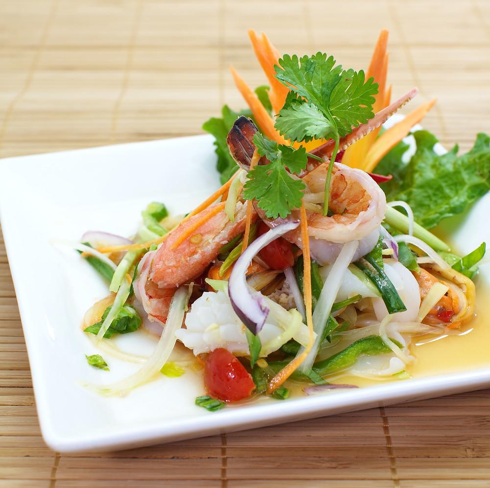 Salade thaï piquante - Ma Cuisine Thaï