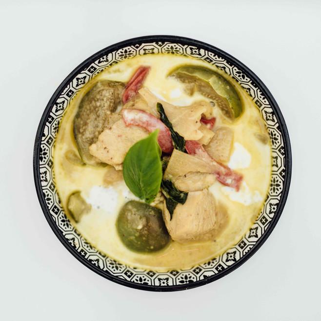 Recette Thaï - poulet curry vert