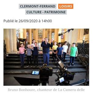 Des élèves de Clermont-Ferrand chantent pour une web-série.