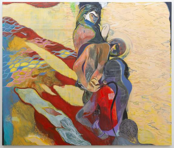 Oil and acrylic on canvas, 167.5 x 198 cm