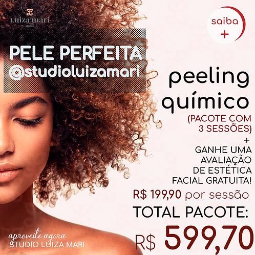 3 SESSÕES DE PEELING QUÍMICO!