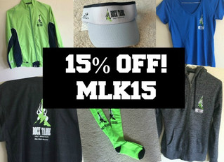MLK SALE -- 15% OFF!