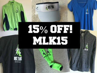 MLK SALE -- 15% OFF!
